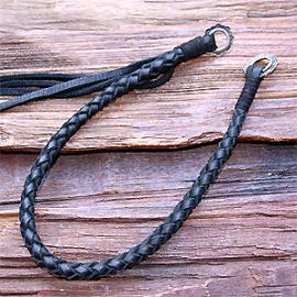 Wallet rope (鹿革 ウォレットロープ カスタムパーツ 四つ編み)