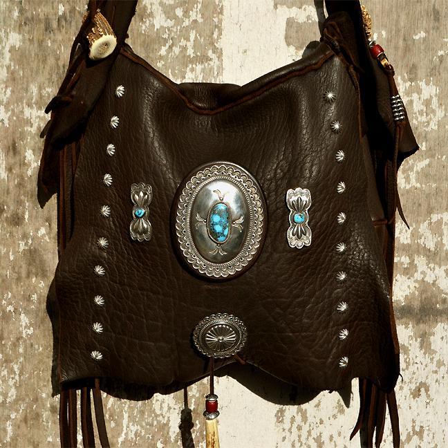Deer Bag  (鹿革 特大コンチョ 総手縫い バッグ)