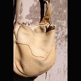 Smoke 鹿革 Bag  (スモーク 鹿革バッグ 鹿角コンチョ)