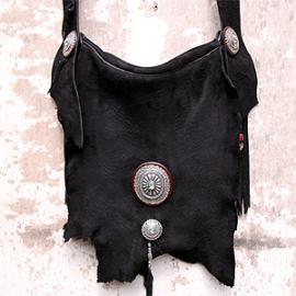 Limited 鹿革 Bag (総手縫い 鹿革 バッグ 特大コンチョ)
