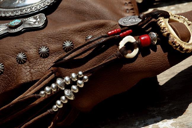 Deer Bag MSS (鹿革 特大コンチョ 総手縫い バッグ)