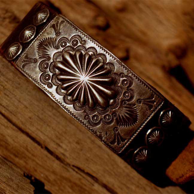 Vintage Buckle Leather Bracelet (ヴィンテージ レザー ブレス)