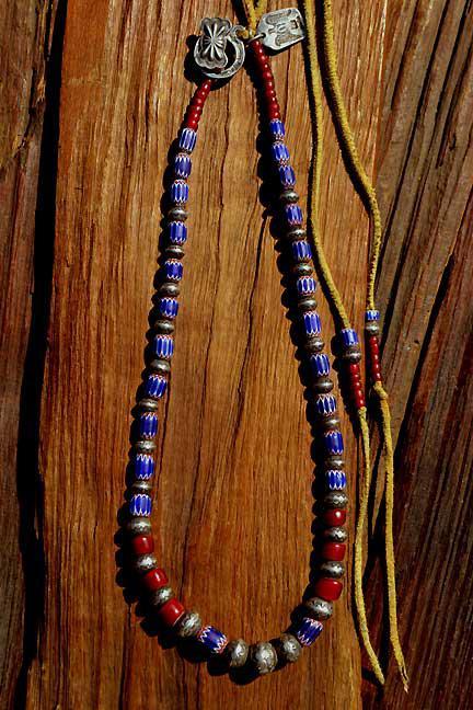 Antique Venetian Chevron Beads Necklace (アンティーク 6層シェブロン オールドベネチアン)