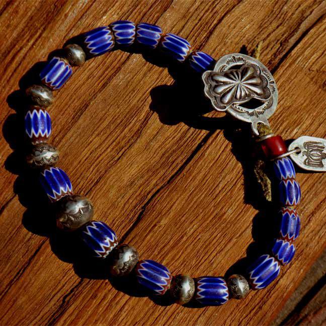 Antique Venetian Chevron Beads Bracelet (アンティーク 6層シェブロン オールドベネチアン)