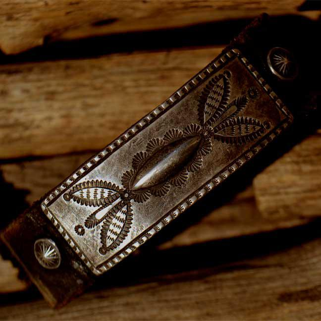 Vintage Button Leather Bracelet (ヴィンテージ レザー ブレス)