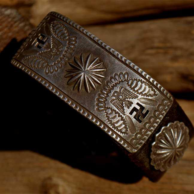 Vintage Buckle Leather Bracelet